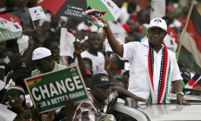 Prof. Atta-Mills during his campaign days