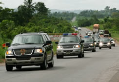 Ghana's presidential convoy on display