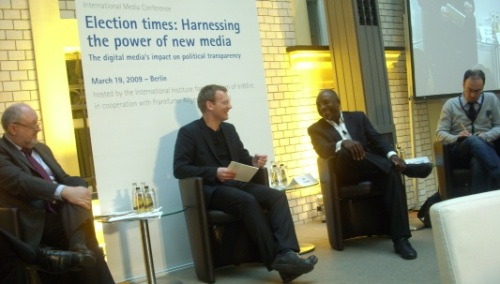 Panel discussion at the international conference in Berlin