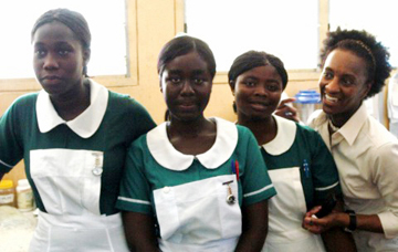Nurses in Ghana work under difficult conditions
